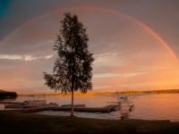 Traumhafter Regenbogen im Sonnenuntergang, Foto: TravelAlaska.com