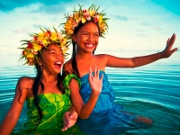 Lächelnde Kinder auf den Cook Inseln, Foto: Kirklandphotos
