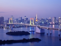 Hauptstadt Tokyo bei Nacht