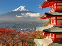 Mt. Fuji und Chureito Pagoda