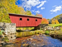 neuengland-covered-bridge-in-the-fall, Foto: Shutterstock