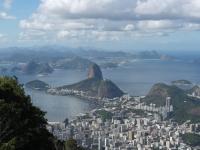 Blick vom Corcovado über Botafogo zum Zuckerhut