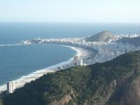 Blick über die Copacabana vom Zuckerhut