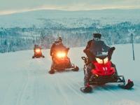 Schneemobile in Vemdalen, Foto: Mikko Nikkinen/imagebank.sweden.se