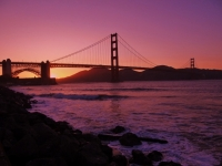 Sunset at Golden Gate Bridge, San Francisco [Foto: Mirschel / NIEDblog]