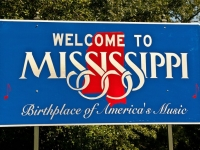 Mississippi Welcome Schild, Foto: Shutterstock