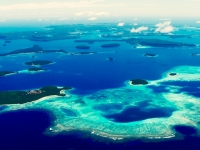 Inselwelt von Tonga aus dem Helikopter, Foto: Tonga Tourism