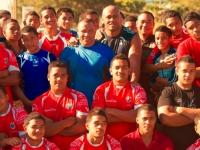 Nationalheld Jonah Lomu und das Rugby Team von Tonga, Foto: Tonga Tourism